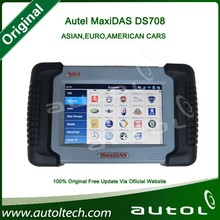 Multi-language Car Diagnostic Scanner DS708 works with Asian, European and American cars 100% Original Autel MaxiDAS DS708