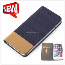 Top Quality 2 color PU leather mobile flip cover