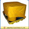 Yellow UV-protection,flame resistant,waterproof pvc tarpaulin cover