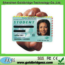 Low-cost printer proximity school student id card