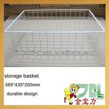 metal wire rattan / bamboo storage baskets