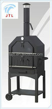 Freestanding stainless steel/iron wood fired pizza oven with stone floor model XP-003