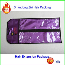 red and gold gift bags/Customized hair extensions packaging bags PVC hair extensions bags