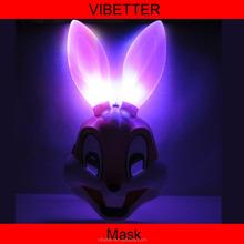 LMK-016 LED Rabbit mask New plastic rabbit mask,glow rabbit masks,party rabbit masks