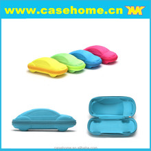 Car glasses case,soft bag and glasseses cloth customized hot sale children car shaped eva sunglasses case