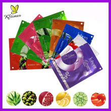 Fruity essence 38g essential oil 100% cotton sheet invisible silk facial mask