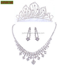 2015 new design custom wedding jewelry set grace 925 sterling silver diamond jewelry women's jewelry set