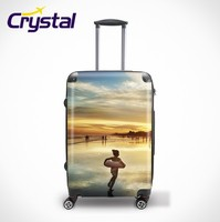 Business Airport Trolley Travel Stroller Spinner Plastic PC Hard Shell Case Hard Luggage