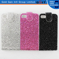 Diamond Flip Leather Case Cover For iPhone 4G,Fashionable Leather Cover For iPhone 4G