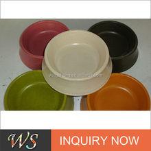 Eco-friendly Bamboo Fiber Dog Food Dishes & Water Bowls