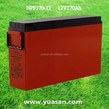 12V 170AH Yuasan Front Terminals VRLA Long Life Gel Battery AGM Sealed Lead Acid Solar Battery for UPS -NPF170-12