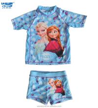 Girl's swimwear of frozen printing