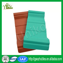 fadeless brick red anti uv pvc artificial thatch roof with CE certificate