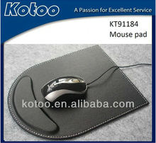 High end PU leather mouse pads with wrist rest for office use