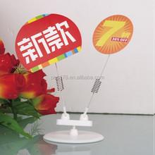 plastic metal spring clip for supermarket display