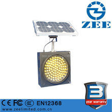 Solar Power Yellow and Amber LED Traffic Flasher 300mm Battery Operated