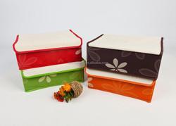 (JMLSNH006) Fashion Colourful Underwear Storage Boxes foldable fabric storage box