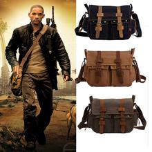 Bag Men Over The Shoulder Men's Vintage Canvas Leather Satchel School Military Canvas Shoulder Bag Messenger Bag