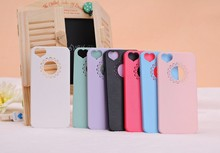 Cute candy Color Loving Heart Flower Lace Hard Phone Case Cover For iPhone 4 4S