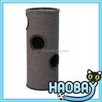 2015 new design cat barrel / cat tree tower