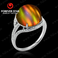 2015 Fashion Latest 14K Gold Chrysonitor Rings with Diamond Big Stone Gold Plated Jewelry GR0000689