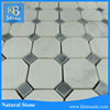 Octagon Oriental White Marble With Blue Marble Strip Swimming Pool Cheap Mosaic Tiles