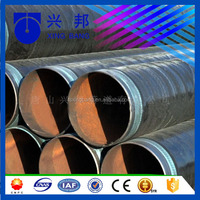 high density pe plastic coated and epoxy powder coated ssaw carbon steel gas pipe