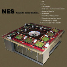 12 players USA electronic roulette machine for roulette game board/casino game board