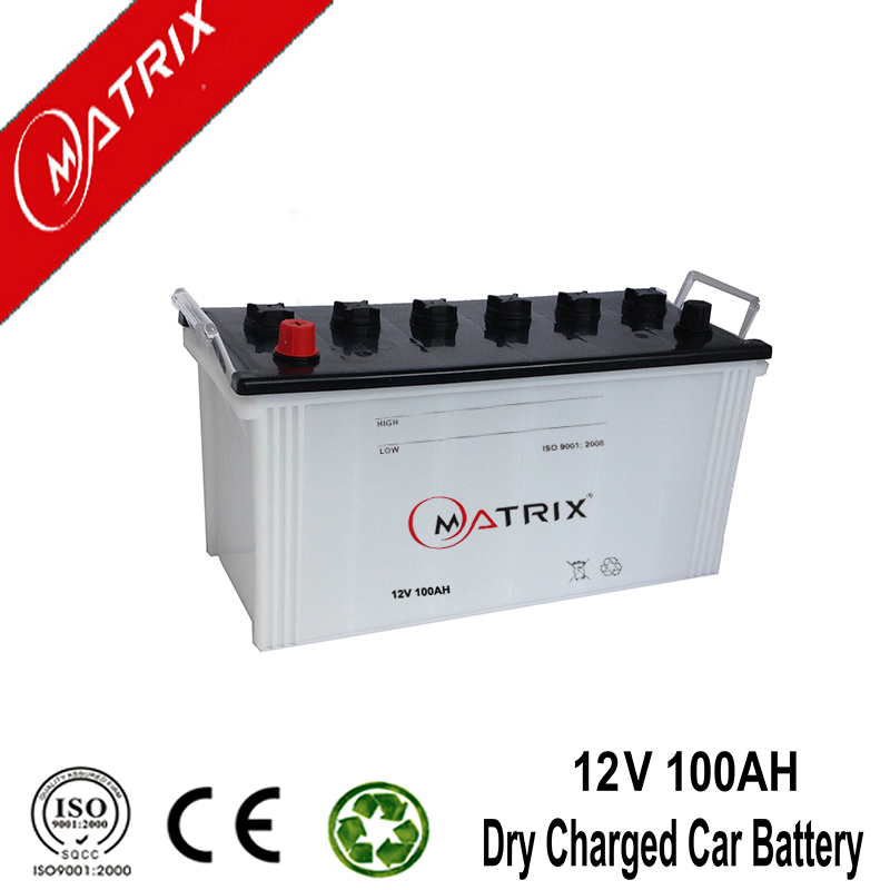 12 v 100AH N100 Usine chargée sèche démarrage auto batterie de voiture