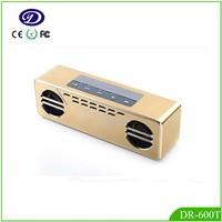 Radio TV design bluetooth vibration speaker all heavy aluminum material
