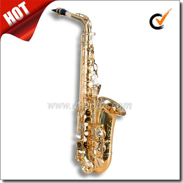 alta F # Eb chave laca dourada profissional <span class=keywords><strong>saxofone</strong></span> alto(SP1011G)
