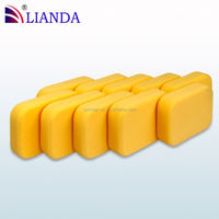 washing sponge for car, waxing sponge, wholesale cleaning sponge pad car wax applicator sponge