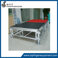 mobile folding stage for trade show