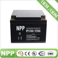 12V 28AH Valve Regulated Lead Acid High Rate Long Life UPS 12V Rechargeable Battery