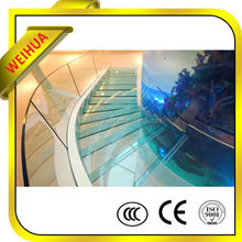 Low iron colored 9mm 12mm 15mm tempered glass fence wholesale