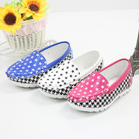 FC1144 wholesale hot sale leather printed children shoes spring autumn casual kids shoes
