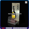 TSD-A170 Customized simple design acrylic bottle stand display/wine liquor display holder/acrylic wine bottle display stand