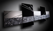 AG-A047 five pcs panel painting black and white colour home decor oil painting