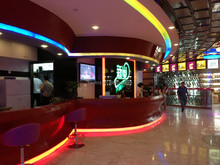 Incredible high quality KTV front reception lighted bar counter