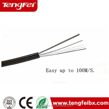With fast and wholesale price 1core/ 2 Cores FRP FTTH Drop Optic Fiber Cable Fiber Optic Cable