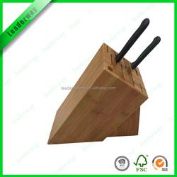 2016 most popular bamboo kitchen knife block