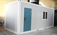 portable prefabricated flat pack moduler container house for aquaclture fisning farm contruction project, mobile house