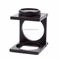 8X Linen Tester Folding Magnifier with Stand and Scale MG14108