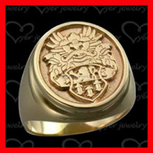 316L stainless steel chinese rose gold ring , fashion signet ring