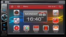 full touch New arrive New style 100% pure Android 4.4 system CAR DVD cassette player