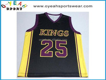 dry fit basketball top quality ,custom basketball sportswear for team printed your own logo with sublimation printing
