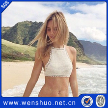 2015 Fashion Summer Handmade Bikini Crochet Top Lady Cotton Swimwear