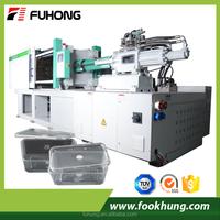 365 days warranted thin fastfood container special double servo 268T high speed injection molding machine