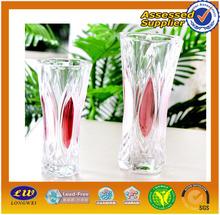2014 venta caliente el florero de cristal transparente o de color