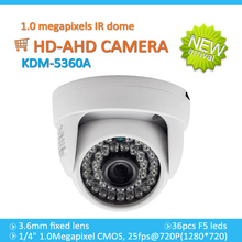 Low cost ahd camera! 720P/960P/1080P megapixel IR Dome HD- AHD Camera, easy to install for home alarm system